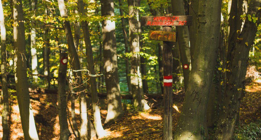 koprivnički planinarski put markacija trase