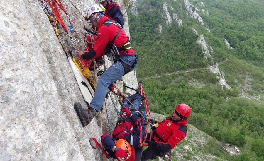 Hrvatska gorska služba spašavanja vježba na Dabarskim kukovima